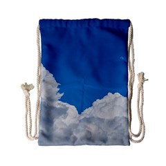 Sky Clouds Blue White Weather Air Drawstring Bag (Small)