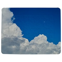 Sky Clouds Blue White Weather Air Jigsaw Puzzle Photo Stand (Rectangular)