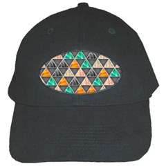 Abstract Geometric Triangle Shape Black Cap