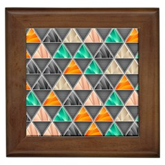 Abstract Geometric Triangle Shape Framed Tiles