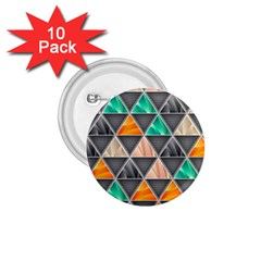 Abstract Geometric Triangle Shape 1 75  Buttons (10 Pack)
