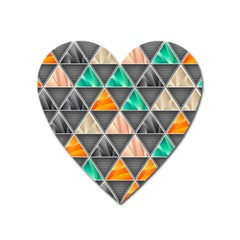 Abstract Geometric Triangle Shape Heart Magnet