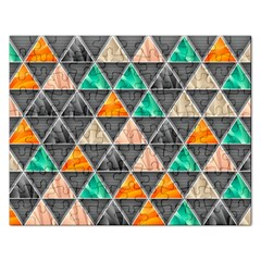 Abstract Geometric Triangle Shape Rectangular Jigsaw Puzzl