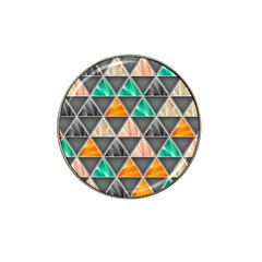 Abstract Geometric Triangle Shape Hat Clip Ball Marker