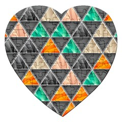 Abstract Geometric Triangle Shape Jigsaw Puzzle (Heart)