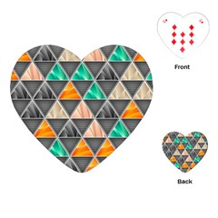 Abstract Geometric Triangle Shape Playing Cards (heart)