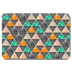 Abstract Geometric Triangle Shape Large Doormat