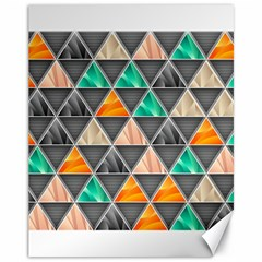 Abstract Geometric Triangle Shape Canvas 11  X 14