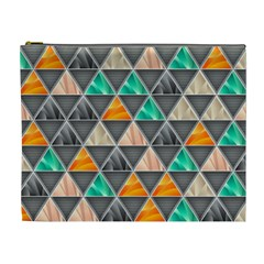 Abstract Geometric Triangle Shape Cosmetic Bag (XL)
