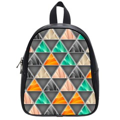 Abstract Geometric Triangle Shape School Bags (Small)