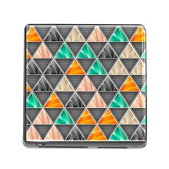 Abstract Geometric Triangle Shape Memory Card Reader (Square)