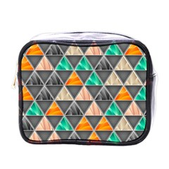 Abstract Geometric Triangle Shape Mini Toiletries Bags