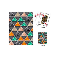 Abstract Geometric Triangle Shape Playing Cards (mini)