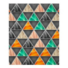 Abstract Geometric Triangle Shape Shower Curtain 60  x 72  (Medium)