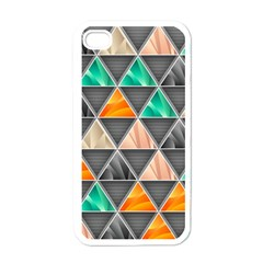Abstract Geometric Triangle Shape Apple Iphone 4 Case (white)