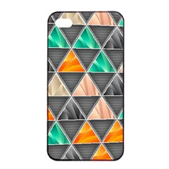 Abstract Geometric Triangle Shape Apple Iphone 4/4s Seamless Case (black)