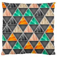 Abstract Geometric Triangle Shape Large Cushion Case (two Sides)