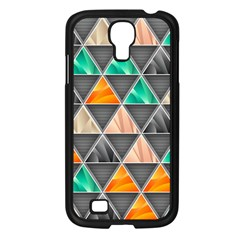 Abstract Geometric Triangle Shape Samsung Galaxy S4 I9500/ I9505 Case (black)
