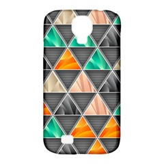 Abstract Geometric Triangle Shape Samsung Galaxy S4 Classic Hardshell Case (PC+Silicone)