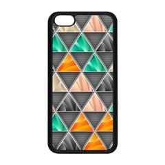 Abstract Geometric Triangle Shape Apple iPhone 5C Seamless Case (Black)