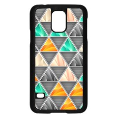 Abstract Geometric Triangle Shape Samsung Galaxy S5 Case (black)