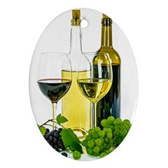 White Wine Red Wine The Bottle Ornament (Oval)