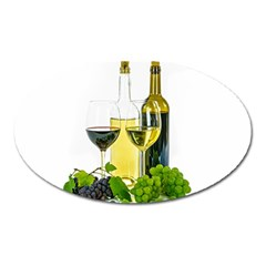 White Wine Red Wine The Bottle Oval Magnet