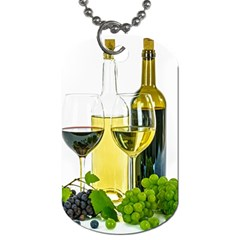 White Wine Red Wine The Bottle Dog Tag (One Side)