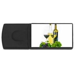 White Wine Red Wine The Bottle USB Flash Drive Rectangular (2 GB)