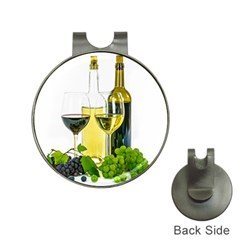 White Wine Red Wine The Bottle Hat Clips with Golf Markers
