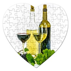 White Wine Red Wine The Bottle Jigsaw Puzzle (heart)