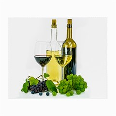 White Wine Red Wine The Bottle Small Glasses Cloth