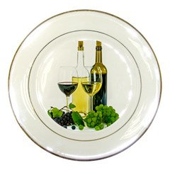 White Wine Red Wine The Bottle Porcelain Plates