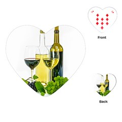 White Wine Red Wine The Bottle Playing Cards (heart)