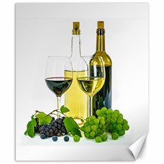 White Wine Red Wine The Bottle Canvas 8  x 10
