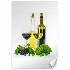 White Wine Red Wine The Bottle Canvas 12  x 18