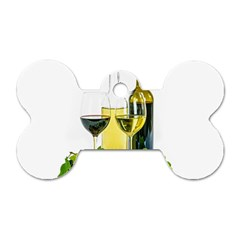 White Wine Red Wine The Bottle Dog Tag Bone (two Sides)
