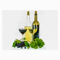 White Wine Red Wine The Bottle Large Glasses Cloth