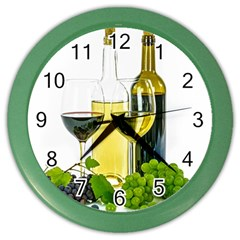 White Wine Red Wine The Bottle Color Wall Clocks