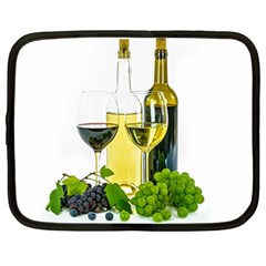 White Wine Red Wine The Bottle Netbook Case (Large)