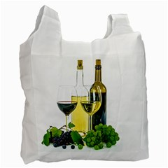 White Wine Red Wine The Bottle Recycle Bag (two Side)