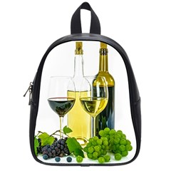 White Wine Red Wine The Bottle School Bags (small)