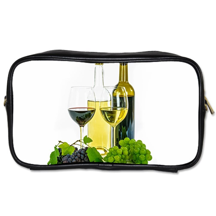White Wine Red Wine The Bottle Toiletries Bags