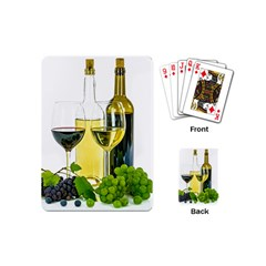 White Wine Red Wine The Bottle Playing Cards (Mini)