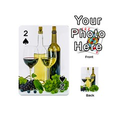 White Wine Red Wine The Bottle Playing Cards 54 (mini)