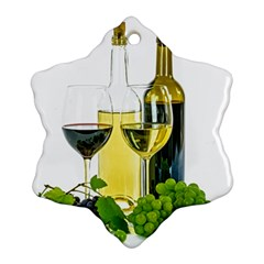 White Wine Red Wine The Bottle Ornament (Snowflake)