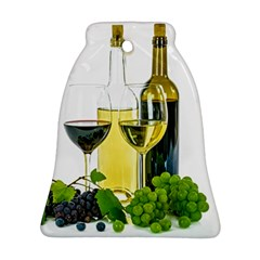 White Wine Red Wine The Bottle Bell Ornament (two Sides)