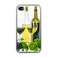 White Wine Red Wine The Bottle Apple Iphone 4 Case (clear)