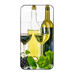 White Wine Red Wine The Bottle Apple iPhone 4/4s Seamless Case (Black)