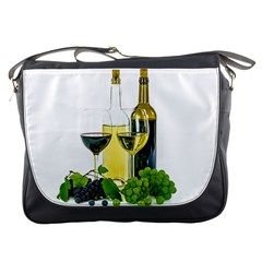 White Wine Red Wine The Bottle Messenger Bags